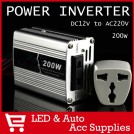 Автомобильный инвертер постоянного тока, 220V, 12V, 200W