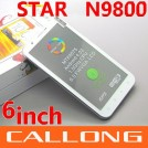 "Star N9800 - смартфон, Android 4.0.4, MTK6575 (1GHz)/MTK6577 (1GHz), 6"" TFT LCD, 512MB RAM, 4GB ROM, 3G, Wi-Fi, Bluetooth, GPS, FM, 5MP задняя камера, 1.3MP фронтальная камера"
