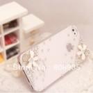 Пластиковый чехол 3D с украшением для iPhone 4/4g + защитная пленка