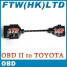 Кабель-адаптер для диагностического сканера, TOYOTA, OBD2 17х16