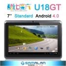 "Cube U18GT - планшетный компьютер, Android 4.0.3, TFT LCD 7"", 1GHz, 512MB RAM, 8GB ROM, Wi-Fi, 0.3MP фронтальная камера"