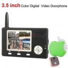 Беспроводной видео-телефон двери - 3.5 дюймовый цветной ЖК-дисплей, 2.4 ГГц, ИК-подсветка, радиус действия до 200 м.