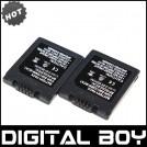 CGA-S001 - 2 аккумулятора Li-ion 850 мАч для Panasonic BCA7 CGA-S001E E1026P