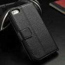 Кожаный чехол для iPhone 5 с отделением для пластиковых карт и подставкой, 3 цвета