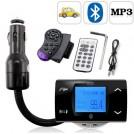 Автомобильный FM трансмиттер -  Bluetooth, МР3, USB/SD/MMC, ПДУ