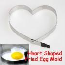 Форма-сердце для яичницы или выпечки, нержавеющая сталь