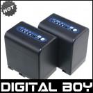 NP-QM91D - 2 аккумулятора Li-ion 4500 мАч  для Sony DCR-PC115E DCR-TRV265