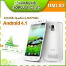 "UMI X2 - смартфон, 2 SIM-карты, Android 4.2.1, Full HD 5"" IPS, MTK6589T (4 х 1.5ГГц), 2ГБ RAM, 32ГБ ROM, 3G, Wi-Fi, Bluetooth, GPS, 2 камеры 13 и 3 МП"