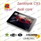 Zenithink C93 - планшетный компьютер, Android 4.0.3, 10.1 IPS, AMLogic 8726-M6 (1.5GHz), 1GB RAM, 8GB ROM, Wi-Fi, HDMI, 0.3MP фронтальная камера