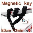 Противоугонный трос для велосипеда, замок с магнитной картой, 80 см