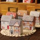 Набор из 12 жестяных коробочек-домиков