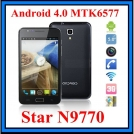 "Star N9770 - смартфон, Android 4.0.4, MTK6577 (1.2GHz), 5"" TFT LCD, 512MB RAM, 4GB ROM, 3G, Wi-Fi, Bluetooth, GPS, FM, 8MP задняя камера, 0.3MP фронтальная камера"