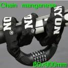 Противоугонный трос для велосипеда из маргонцовистой стали Tonyon, 60х900 мм