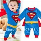 Детский костюм супермена на 0-2года