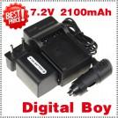 NP-FH70 - аккумулятор + зарядное устройство + автомобильное зарядное устройство + штекер для Sony NP-FH60 DCR-HC24E