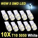 Автомобильные светодиодные лампы освешения, 10шт, LED, DC 12V, белый свет