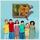 3D Стикер в виде тигра