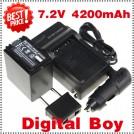 NP-FH100 - аккумулятор + зарядное устройство + автомобильное зарядное устройство + штекер для Sony SR HC