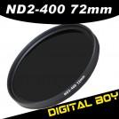 Нейтрально-серый фильтр 72 мм ND2-ND400 для Canon 15-85; Nikon 18-200