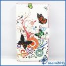 Кожаный чехол-книга с изображениями бабочек для Huawei Ascend Y300, Y300C, U8833 / T8833
