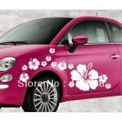 Виниловый стикер на автомобиль в виде цветка