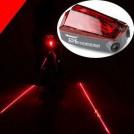 Велосипедный фонарь заднего света, ярко-красный, светодиодный, 5 диодов