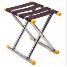 Складной стул из нержавеющей стали, выдерживает нагрузку до 90кг.