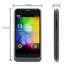 "B63M - смартфон, Android 2.3, 4.1"" сенсорный экран, камера 3.2MP, 3G, Wi-Fi, GPS, TV, 2 SIM"