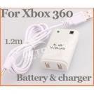 F-107 - зарядное USB-устройство + аккумулятор (3600mAh) для Xbox360