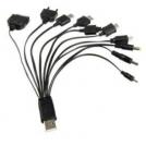 Портативное USB зарядное устройство/передача данных (10 в 1)