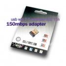 USB Wi-Fi Wireless Network Adapter, 802.11 b/g/n, 150mbps