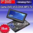 """DV-T78 - портативный DVD-плеер, 7"""" TFT LCD, USB/Card reader, TV"""