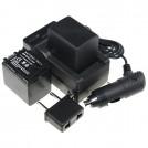 BP-819 - 2 аккумулятора + зарядное устройство + зарядка для авто, для Canon BP-808 BP-809 FS10 FS11 FS100