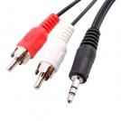 Аудио кабель, 3.5mm, RCA, MP3, 1.5FT