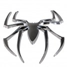 Наклейка в виде 3D паука серебрянного цвета