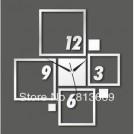 Настенные часы-зеркало 3D-квадраты
