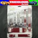 Tricolor - LQ027, комплект из 10 предметов для инсталляции и монтажа автомобильных аудио систем