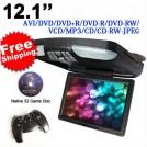 """Автомобильный монитор, 12.1"""", DVD, SD, USB, FM"""