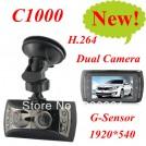 """Novatek C1000 - автомобильный видеорегистратор, 1920*540 HD, 2.7 """", USB"""