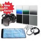 Набор: нейтрально-серые фильтры ND2/ND4/ND8 + градиентные фильтры серый/зеленый/синий + кольцо-переходник 58 мм