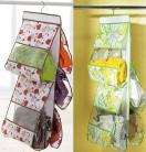 Подвесные тканевые полочки для хранения вещей, защита от пыли и бактерий