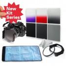 Набор: нейтрально-серые фильтры ND2/ND4/ND8 + градиентные фильтры серый/красный/пурпурный + кольцо-переходник 55 мм