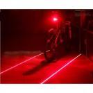 Задний фонарь для велосипеда светодиодный + два лазерных луча, влагозащитное исполнение