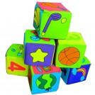 Мягкие кубики, 6 шт
