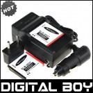 SLB-0937 - 2 аккумулятора + зарядное устройство + автомобильное зарядное устройство для Samsung L730 L830 i8 NV33 NV4