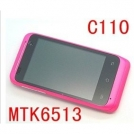"C110 - смартфон, Android 2.3.6, MTK6513 (650MHz), 3.5"" TFT LCD, 256MB RAM, 512MB ROM, 3G, Wi-Fi, Bluetooth, GPS, TV, FM"