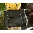 Новые женские сумки большие для ношения ноутбука, черные, с косым тиснением