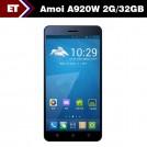 "Amoi A920W - Смартфон, Android 4.2, MTK6589T 1.5GHz, Dual SIM, 5"", 2GB RAM, 32GB ROM, GSM, 3G, GPS, Wi-Fi, Bluetooth, основная камера 13.0Mp"
