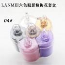 Набор теней для век, 6 цветов, Lanmei