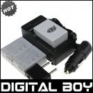 NB-7L - 3 аккумулятора + зарядное устройство + зарядка для авто, для Canon PowerShot G10 G11 G12 SX30